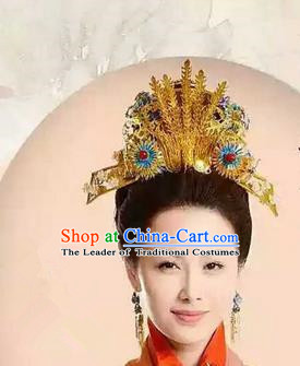 Traditional Handmade Chinese Ancient Classical Hair Accessories, Ming Dynasty Bride Wedding Barrettes Imperial Empress Phoenix Coronet, Xiuhe Suit Hanfu Hair Sticks Hair Jewellery, Hair Fascinators Hairpins for Women