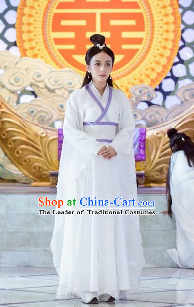 Traditional Ancient Chinese Chivalrous Swordswoman Costume, Chinese Ming Dynasty Chivalrous Woman Dress, Cosplay Chinese Television Drama Flying Daggers Princess Hanfu Clothing for Women