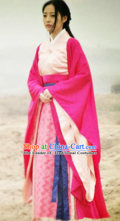 Traditional Ancient Chinese Princess Elegant Costume Complete Set, Chinese Northern Dynasty Imperial Consort Red Dress, Cosplay Chinese Television Drama Alegend of Pringess Lanling Princess Consort Hanfu Trailing Embroidery Clothing for Women