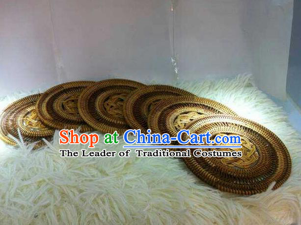 Top Asian Vietnamese Traditional Rattan Plaited Articles, Vietnam Handicraft Teacup Mat