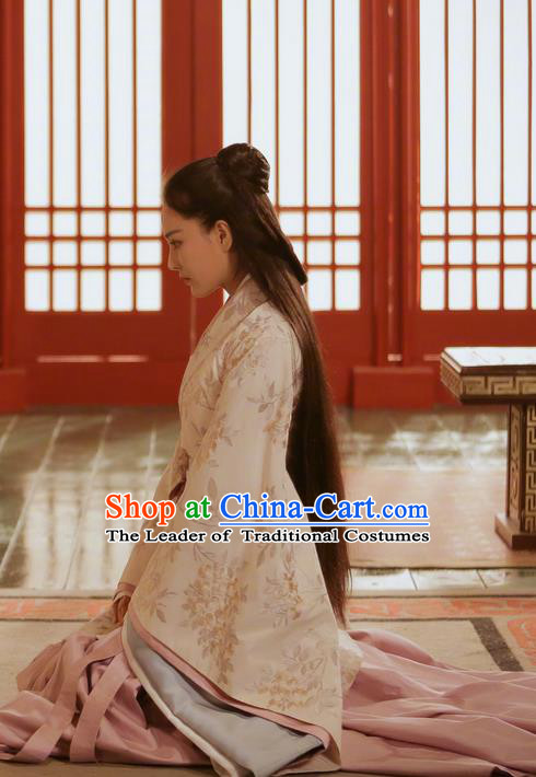 Traditional Chinese Ancient Warring States Time Palace Princess Costume, China Television Song of Phoenix Young Lady Hanfu Clothing and Headwear Complete Set