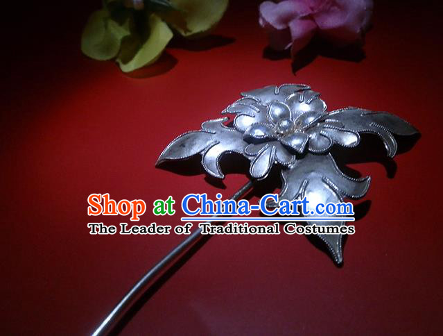 Traditional Handmade Chinese Ancient Classical Hair Accessories Barrettes Manchu Hairpin, Hanfu Hair Clasp Hairpins for Women