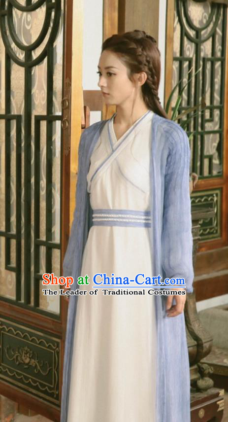 Traditional Chinese Northern and Southern Dynasties Female Costume, Princess Agents China Ancient Young Lady Swordswoman Clothing and Headpiece Complete Set