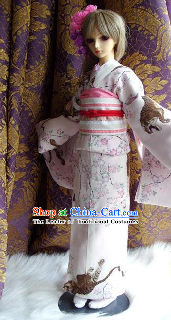 Top Grade Traditional China Ancient Palace Lady Kimono Costumes Complete Set, China Ancient Cosplay Dress Clothing for Adults and Kids