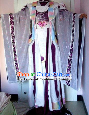 Top Grade Traditional China Ancient Princess Fairy Costumes, China Ancient Cosplay Tang Dynasty Imperial Concubine Dress Clothing for Women
