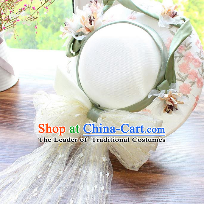 Top Grade Handmade Wedding Bride Hair Accessories Headwear, Traditional Princess Top Hat Wedding Headpiece for Women