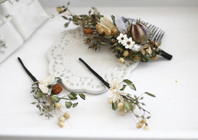 Top Grade Handmade Wedding Bride Hair Accessories Flowers Headwear, Traditional Princess Baroque Hairpin Headpiece for Women