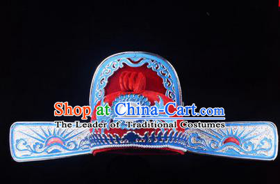 Traditional Chinese Ancient Peking Opera Accessories Lang Scholar Hat, Traditional Chinese Beijing Opera Young Men Bridegroom Headwear