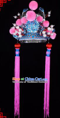 Traditional Chinese Ancient Peking Opera Accessories Eunuch Hat, Traditional Chinese Beijing Opera Court Eunuch Headwear