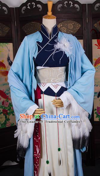 Traditional Chinese Tang Dynasty Swordswoman Costume, Elegant Hanfu Cosplay Clothing Ancient Chinese Chivalrous Woman Dress