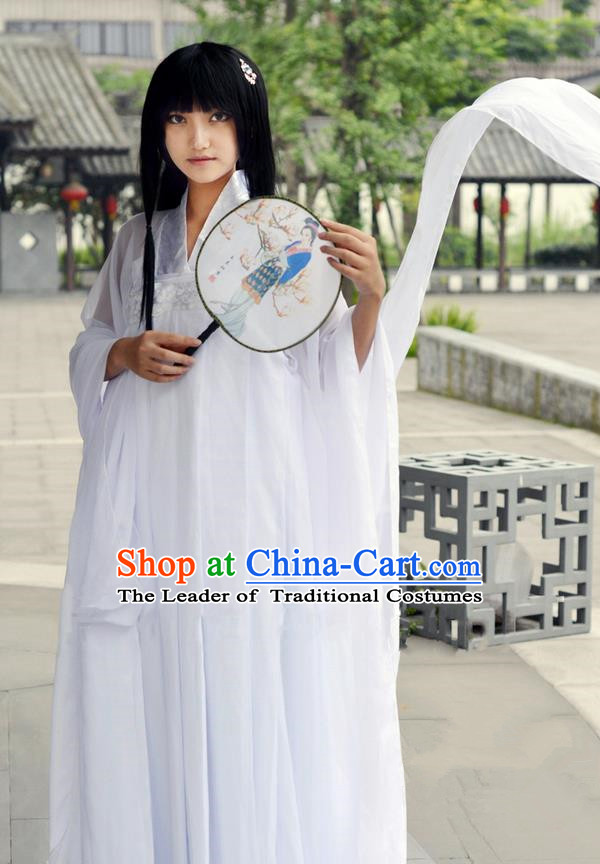Traditional Chinese Han Dynasty Peri Costume, Chinese Ancient Hanfu Imperial Princess Dress Clothing for Women
