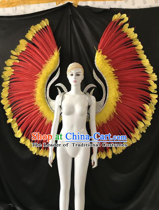 Traditional Brazilian Carnival Costumes Professional Samba Dance Dress Custom-made Customized Ostrich Feather Rio Carnival Wings