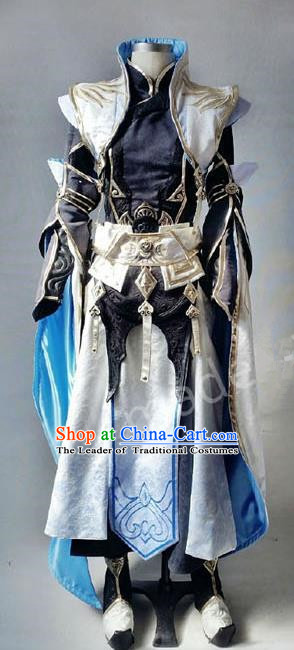 Asian Chinese Traditional Cospaly Costume Customization Royal Highness Costume, China Elegant Hanfu Swordsman Knight Clothing for Men