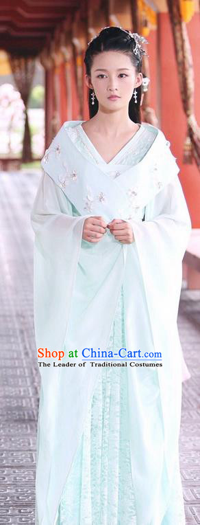 Traditional Ancient Chinese Imperial Princess Dress Clothing, Princess Agents Chinese Southern and Northern Dynasties Palace Lady Costume and Headpiece Complete Set