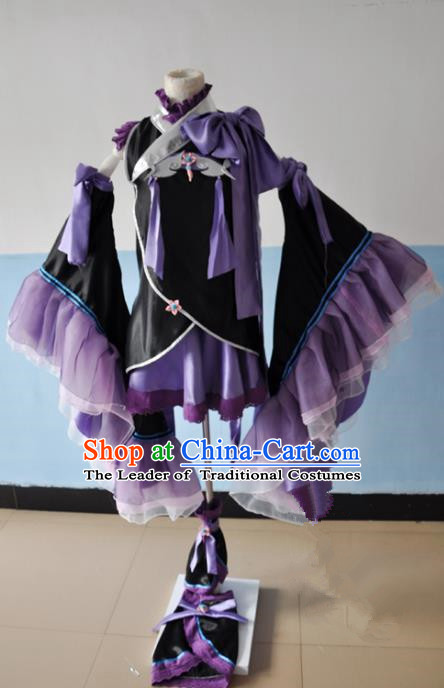 Chinese Ancient Cosplay Young Lady Costumes, Chinese Traditional Clothing Chinese Cosplay Princess Costume for Women