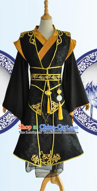 Chinese Ancient Cosplay Han Dynasty Prince Costumes, Chinese Traditional Dress Clothing Chinese Cosplay Swordsman Costume for Men