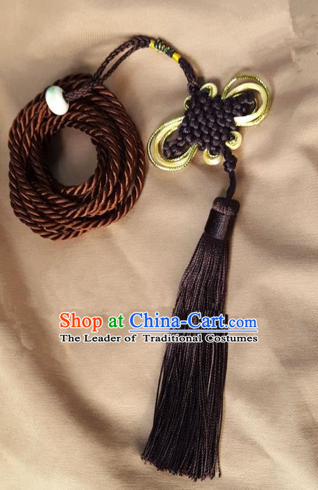Traditional Handmade Chinese Ancient Chinese Knot Palace Taeniasis Hanfu Pendant for Men