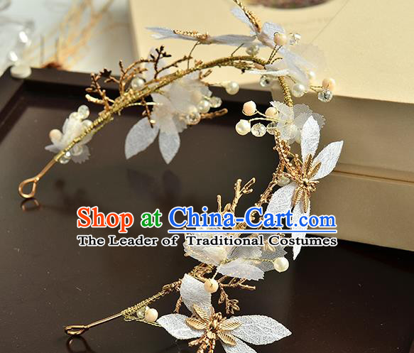 Top Grade Handmade Chinese Classical Hair Accessories Baroque Style Dragonfly Headband, Bride Hair Sticks Hair Clasp for Women