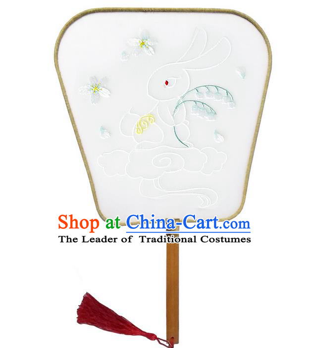 Traditional Handmade Chinese Ancient Fans, China Hanfu Embroidery Palace Fan for Women
