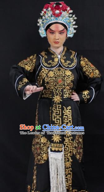 Traditional China Beijing Opera Costume Takefu Embroidered Robe, Ancient Chinese Peking Opera Martial Role Embroidery Clothing