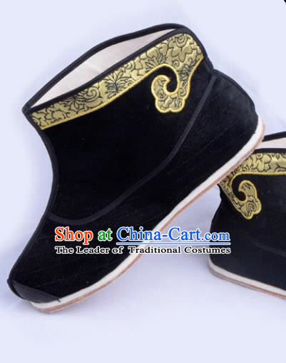 Top Grade Professional Beijing Opera Takefu Boots, Traditional Ancient Chinese Peking Opera Young Men Warrior Shoes