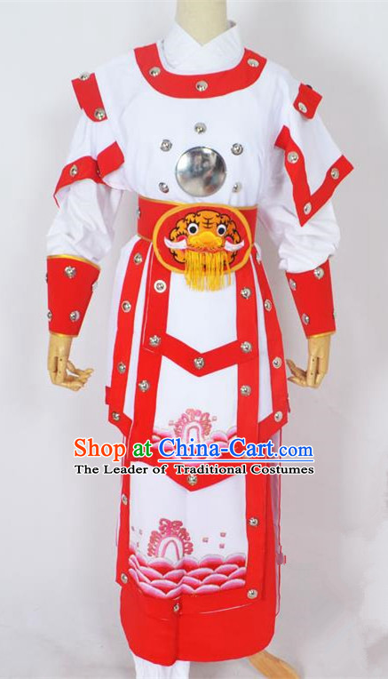 Traditional Chinese Professional Peking Opera Takefu General Costume, China Beijing Opera Martial Arts Warrior Embroidered Clothing