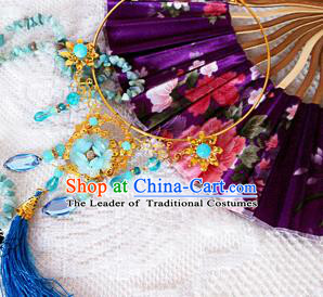 Traditional Handmade Chinese Ancient Classical Jewelry Accessories Tassel Necklace, Hanfu Jewellery Necklet for Women