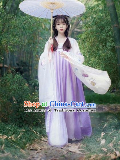 Traditional Ancient Chinese Hanfu Palace Lady Slip Skirt Costume, Elegant Hanfu Clothing Chinese Han Dynasty Princess Dress for Women
