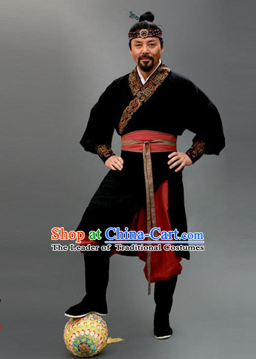 Traditional Chinese Ancient Kawaler Costume, Elegant Hanfu Clothing Chinese Ancient Song Dynasty Swordsman Clothing