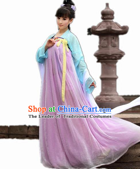 Traditional Chinese Tang Dynasty Imperial Concubine Costume, Elegant Hanfu Clothing Chinese Ancient Fairy Princess Dress Clothing for Women