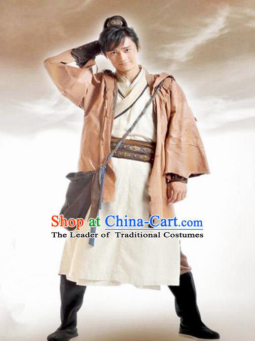 Traditional Chinese Ancient Swordsman Costume, Chinese Young Kawaler Clothing for Men