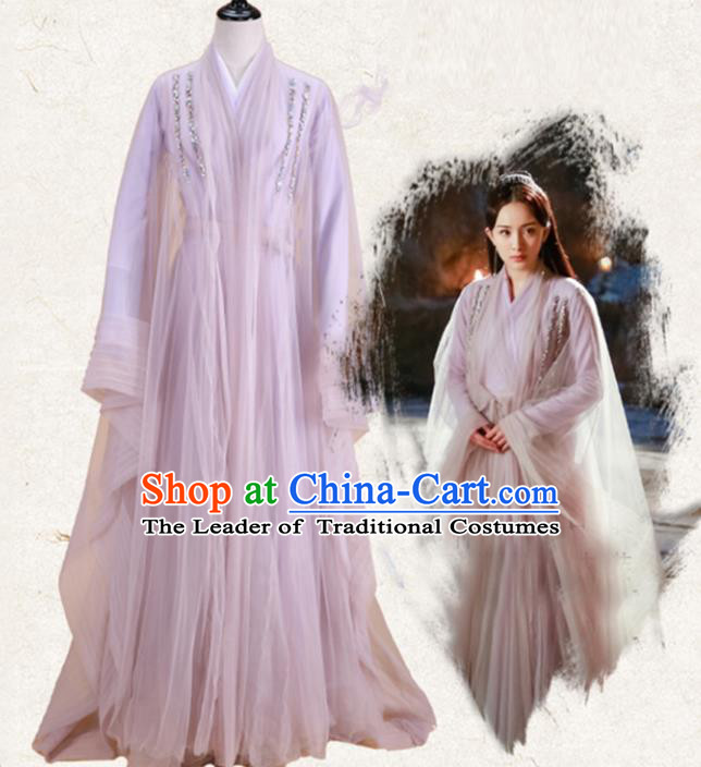 Traditional Ancient Chinese Ten great III of peach blossom Fairy Costume, Elegant Hanfu Clothing Chinese Han Dynasty Imperial Princess Dress Clothing for Women