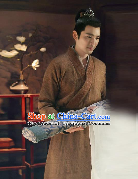 Traditional Chinese Ancient Swordsman Costume, Chinese Han Dynasty Prince Clothing for Men