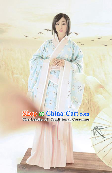 Traditional Ancient Chinese Imperial Concubine Costume, Elegant Hanfu Clothing Chinese Han Dynasty Imperial Consort Clothing for Women