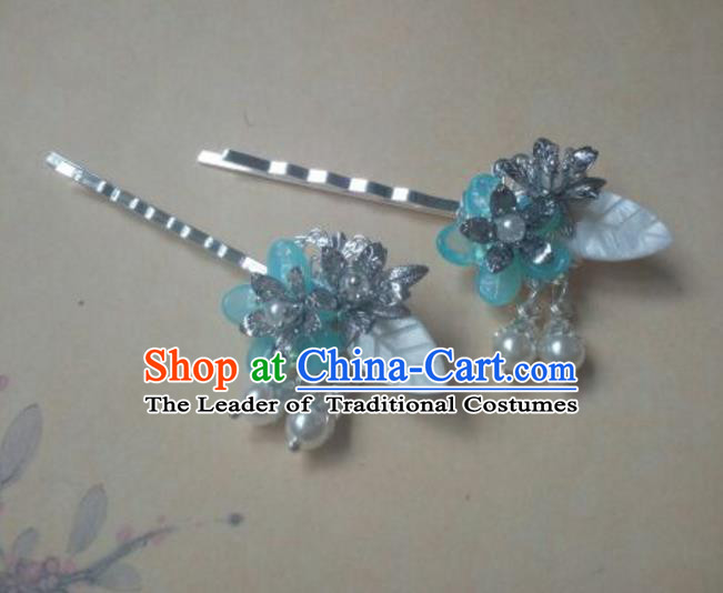 Traditional Handmade Chinese Ancient Classical Hanfu Hair Accessories Hairpins, Princess Headpiece Hair Claw for Women