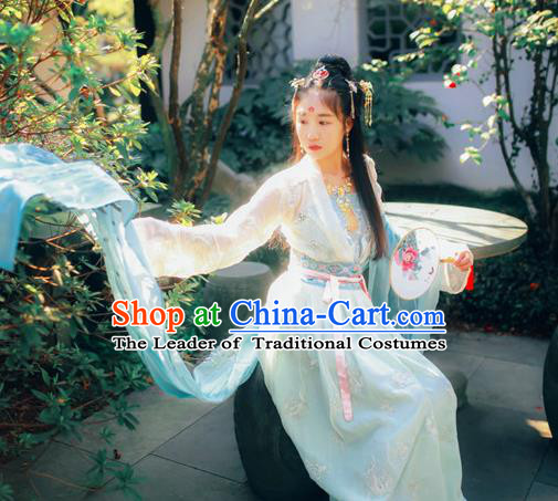 Traditional Ancient Chinese Imperial Consort Costume, Elegant Hanfu Clothing Chinese Tang Dynasty Imperial Empress Embroidered Dress Clothing for Women