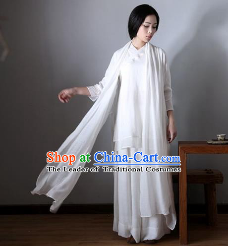 Traditional Ancient Chinese National Costume Cheongsam, Elegant Hanfu Clothing Chinese Embroidered Qipao Clothing for Women