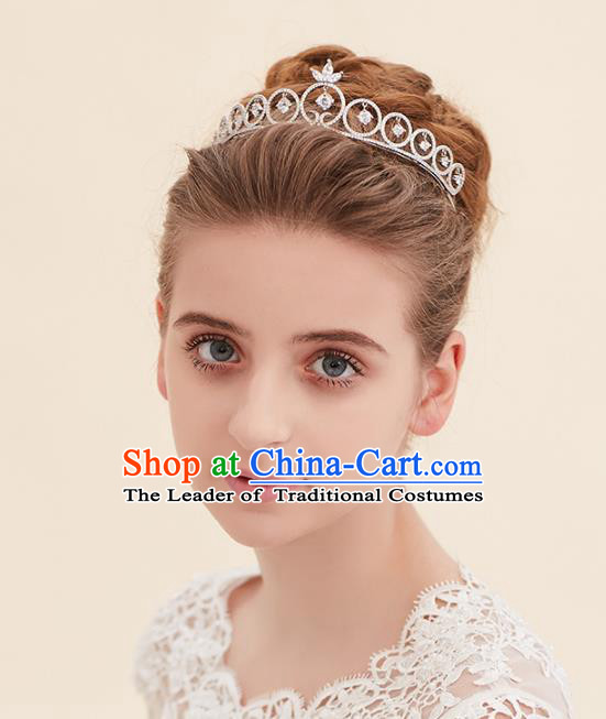 Top Grade Handmade Classical Hair Accessories Baroque Style Princess Crystal Royal Crown Hair Clasp Headwear for Women