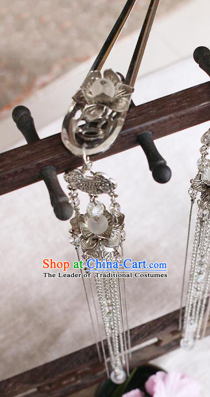 Chinese Handmade Classical Accessories Tassel Hairpins, China Hanfu Step Shake Hair Clip for Women
