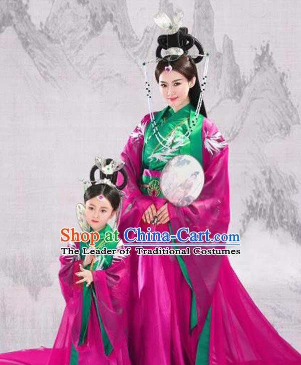 Traditional Ancient Chinese Imperial Consort Costume, Elegant Hanfu Chinese Han Dynasty Embroidered Clothing for Women