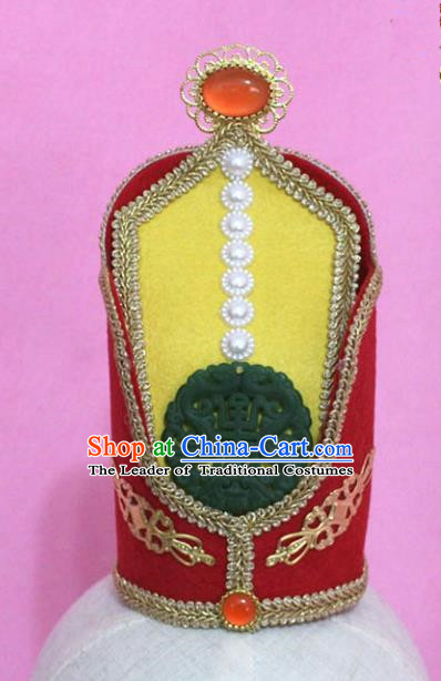 Traditional Handmade Chinese Hair Accessories Emperor Wedding Headwear, China Tang Dynasty Hairdo Crown Tuinga for Men