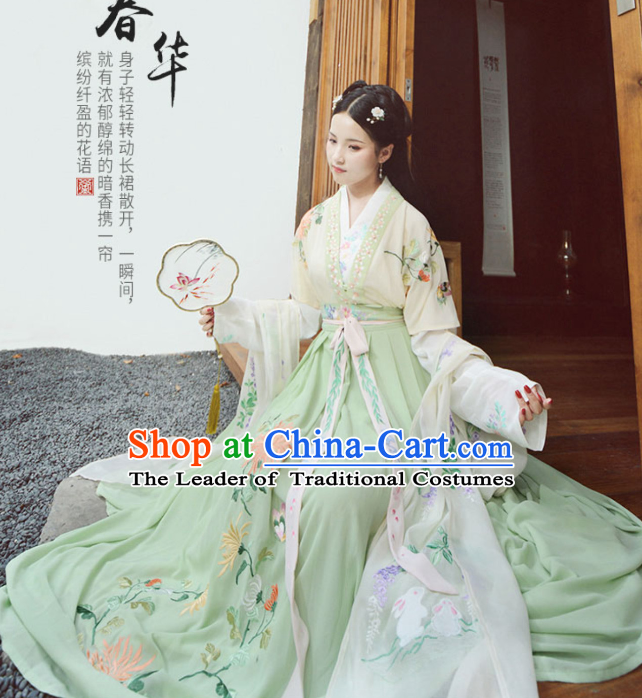 Ancient Chinese Han Dynasty Princess Clothing Costumes Complete Set for Women