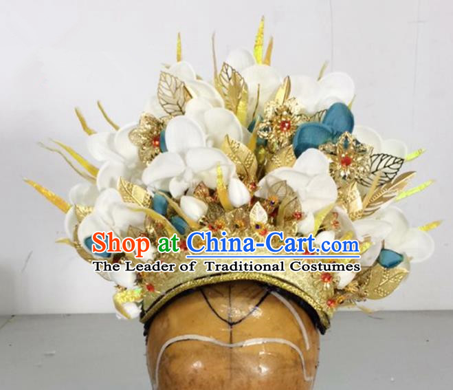 Traditional Handmade Chinese Emperor Hair Accessories, China Ancient King Hat Headwear