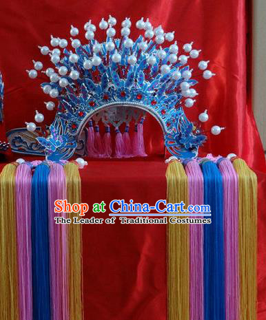 Traditional Chinese Ming Dynasty Imperial Empress Wedding Hats, China Ancient Bride Phoenix Coronet Headwear for Women