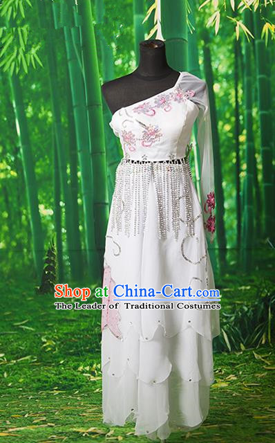 Traditional Ancient Chinese Palace Lady Dance Costume, Asian Chinese Tang Dynasty Fairy Dress Clothing for Women