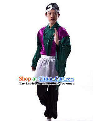 Traditional Ancient Chinese Journey to the West Monk Sha Costume, Asian Chinese Kawaler Clothing for Men