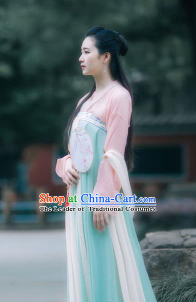 Traditional Ancient Chinese Tang Dynasty Imperial Princess Costume, Elegant Hanfu Clothing Chinese Fairy Palace Lady Dress Clothing