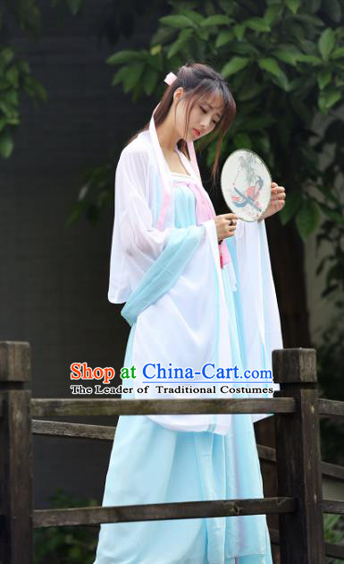 Traditional Ancient Chinese Tang Dynasty Imperial Princess Hanfu Costume, Chinese Fairy Palace Lady Elegant Dress Clothing