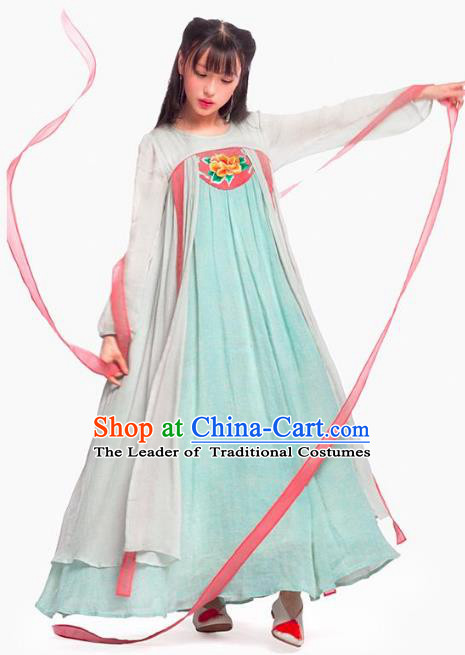 Traditional Ancient Chinese Tang Dynasty Imperial Consort Hanfu Embroidery Costume, Chinese Palace Lady Elegant Dress Clothing