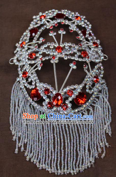 Traditional China Beijing Opera Actress Hair Accessories Hairpins, Chinese Peking Opera Diva Head-Ornaments Headwear